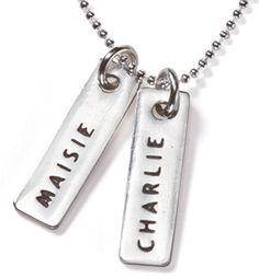 Name Tag pendants