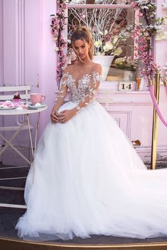 Unique bridal couture MillaNova calls your attention to new luxurious dress collection. Вeautiful wedding gowns created for your happiness! Top Wedding Dresses, Cute Wedding Dress, Wedding Dress Trends, Bridal Dresses, Dusty Blue Bridesmaid Dresses, Beautiful White Dresses, Stunning Dresses, Weeding Dress, The Dress