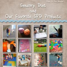 Sensory-Diet-SPD-Products. ~Repinned by playwithjoy.com. For more early learning pins visit pinterest.com/playwithjoy