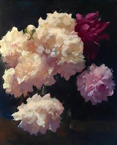 """""""Peony Explosion""""  oil on canvas  24"""" x 20"""""""