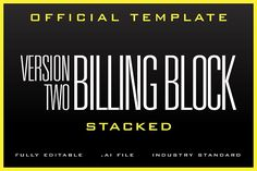 The Billing Block Template Templates Easy, editable billing block for your next blockbuster! You get 1 .ai file that you just plug in you by SOCALARTS Business Brochure, Business Card Logo, Business Flyer, Business Illustration, Pencil Illustration, Flyer Design Templates, Flyer Template, Sf Movies, Film Logo