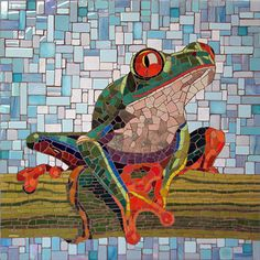 "Tree Frog | Michael Sweere 28""h x 28""w  Kiran Stordalen and Horst Rechelbacher Pediatric Pain, Palliative and Integrated Medicine Clinic, Minneapolis Children's Hospital - Minneapolis, MN"