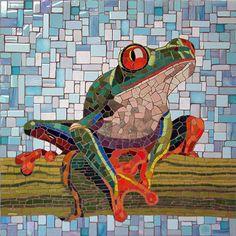 "Tree Frog | Michael Sweere 28""h x 28""w  Kiran Stordalen and Horst Rechelbacher Pediatric Pain, Palliative and Integrated Medicine Clinic, Minneapolis Children's Hospital - Minneapolis, MN"