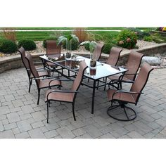 Sun Casual Cambria 9-piece Outdoor Dining Set | Overstock.com Shopping - The Best Deals on Dining Sets