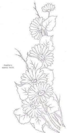 20 ideas embroidery patterns mandala flower for 2020 One Stroke Painting, Tole Painting, Fabric Painting, Painting Patterns, Craft Patterns, Ribbon Embroidery, Embroidery Patterns, Colouring Pages, Coloring Books