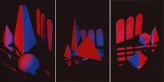 Triptych II, 1983, Cibachrome, 40x90in (each panel 40x30in)