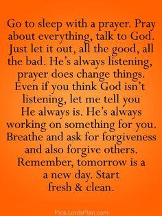 Always Pray before Sleep - Lords Plan -Best Inspirational Verses