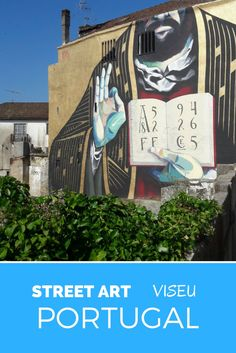 Street art in Portugal. Viseu, Portugal.