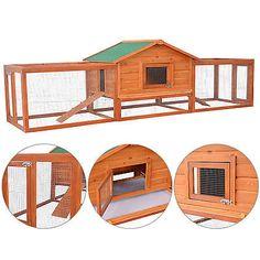 PawHut-Large-Wooden-Habitat-Coop-Chicken-Rabbit-Hen-House-Pet-Hutch-w-Ramp-Run