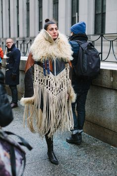 New York Fashion Week Fall 2016 street style - February 2016