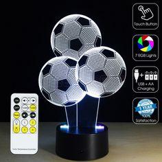 #3D Footballs Optical Lamp #GEEKLED