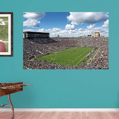 Delightful Notre Dame Fighting Irish Stadium Mural Wall Decal By Fathead, Multicolor Gallery