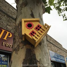 yellow bird house, jp nails jamaica plain boston ~ Join the Seen Around Boston Facebook group; post your own pics or enjoy our pics in your Facebook feed: https://www.facebook.com/groups/seenaroundboston/