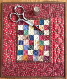 "6"" x 7"" Quilt -- not sure why I am so drawn to patchwork these days, but I love this!"