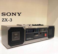◎SONY ZX-3 コンパクト ステレオ ラジカセ シルバ-Edition AD付 - ヤフオク! 14,000 円