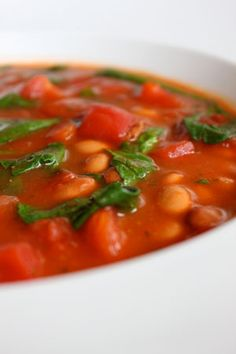 Spiced Tomato Soup with Pinto Beans
