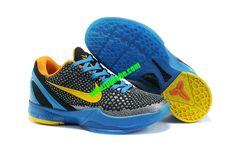 buy online faf76 c5b0a Nike Zoom Kobe VI Womens 3D Glass Blue Dark Grey Yellow 429659 005 Zapatos  De Kobe