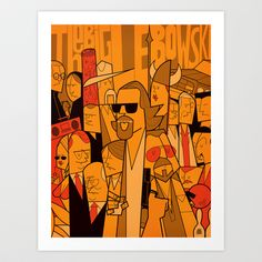 Italian artist Ale Giorgini has created these awesome minimalist style group portraits of cult film characters including The Big Lebowski, Star Wars, Pulp Fiction and The Blues Brothers. The Big Lebowski, Big Lebowski Poster, Pulp Fiction, Ale Giorgini, Ode An Die Freude, The Blues Brothers, Films Cinema, Alternative Movie Posters, Arte Pop