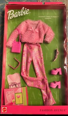 New Barbie Dolls, Doll Clothes Barbie, Mattel Barbie, Barbie And Ken, Pink Outfits, New Outfits, Barbie Outfits, Fashion Spree, Barbie Doll Accessories