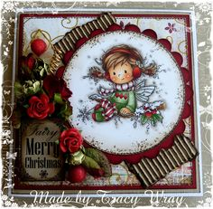 Card made by Tracy Wray--Wee Stamps by Sylvia Zet image.