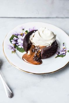 Salted Caramel-Filled Molten Chocolate Cakes