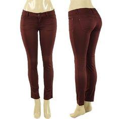 G2 Fashion Square Basic Wine Ci Cono Skinny Pants(BTM-PNT,WIN-9) G2 Fashion Square. $9.47