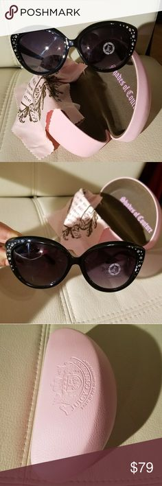 Just Couture sunglasses and pink leather case. New without tags, amazing eyeglasses and pinky case,  leather. Juicy Couture Accessories Glasses