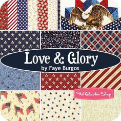 Love+&+Glory+Fat+Quarter+Bundle+Faye+Burgos+for+Marcus+Brothers+Fabrics