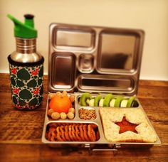 School lunch in a planetbox + Kivanta bottle with Koverz insulating tote