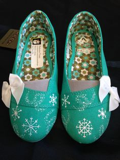 Hand painted Snowflake, Frozen's Elsa inspired, or Chirstmas shoes by MonkeymouDesigns www.facebook.com/MonkeymouDesigns