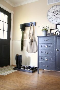 creamy walls with hardwood floor