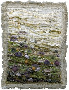 Urchins and anemones 3 Some textiles are so beautiful, natural and stimulating. I really like the work of this artist from Art Fibres Textiles, Textile Fiber Art, Textile Artists, Embroidery Art, Machine Embroidery, Embroidery Sampler, Art Du Fil, Creation Art, Textured Yarn