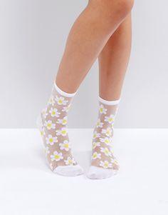 Daisy Socks Vans Socks, Fishnet Socks, Vans Outfit, Cute Socks, Happy Socks, Fashion Socks, Ankle Socks, Sock Shoes, Look Cool