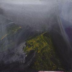Ørnulf Opdahl: Hornelen, 80 x 80 cm Abstract Landscape, Landscape Paintings, Abstract Art, Landscapes, Modern Paintings, Still Life Photography, Close Image, Oslo, Bead Art