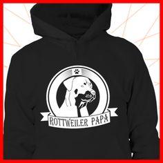 Rottweiler Papa  COOLES SHIRT, EXKLUSIVES MOTIV, LUSTIGER SPRUCH! Unser lustiges Hunde Sprüche Shirt / Hoodie ist das ideale Geschenk für Hundehalter, Hundebesitzer, Frauen & Frauchen!  Hund / Hundeshirt / Funshirt / Hundesprüche-Shirt / Spruch-Shirt / Motiv-Shirt / T-Shirt Motive / Langarmshirt / Ladyshirt / Top / Sweatshirt / Hoodie / Kapuzenshirt / Kapuzenpullover / Damen Hoodie / Pullover Bluse
