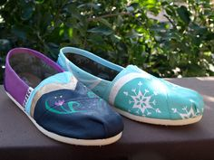 KOOAK Kustoms Disney FrozenInspired Toms Flats by KammysOneOfAKind, $150.00