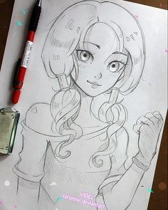 Sketch of Videl from Dragon Ball  Videl has always been an important character to me, she was lile my avatar in the animated world of DB and also my chosen character for maaany roleplays I did with my cousins when we were young♡ Some of my best memories, hence Gohan x Videl forever ❤ -- Larienne.deviantart.com --