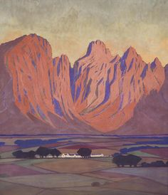 Jacob Hendrik Pierneef (South African, 1886-1957) Cape farmlands
