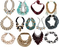 """""""SS Statement necklaces"""" by irishizzz ❤ liked on Polyvore"""