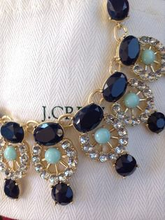J. Crew originated the new trend of over the top statement necklaces. Knock offs are popping up everywhere these days.