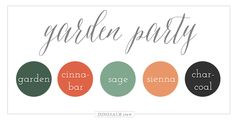 Garden Party Color Palette - Fall colors or so comforting