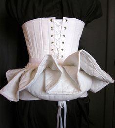 Victorian Bustle Pillow Skirt Support Bum Roll by redthreaded