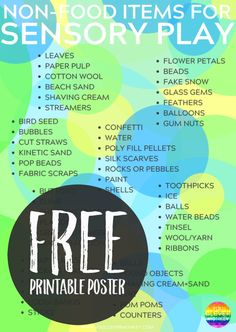 50+ Different Non-Food Items Perfect for Rich Sensory Play in the classroom or at home   you clever monkey