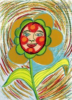 """""""Floraleza"""", Ouka Leele. Serigrafía Dimensiones: 31 x 43 cm"""