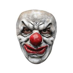 Adult Clown #2 Mask ($5) ❤ liked on Polyvore featuring costumes, adult halloween costumes, clown halloween costume, clown costumes, adult clown costumes and adult costumes