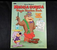 1964 Vintage Whitman Hanna-Barbera Magic Paintless Book, MAGILLA GORILLA, 96 pgs