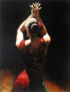 Painting of a Flamenco dancer (love this art) Figure Drawing Practice, Fabian Perez, Womens Month, Cafe Concept, Flamenco Dancers, Art Images, Bing Images, Hacienda Style, Portraits