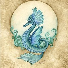 Fairy Art Artist Amy Brown: The Official Online Gallery. Fantasy Art, Faery Art, Dragons, and Magical Things Await. Fairy Pictures, Dragon Pictures, Fantasy Creatures, Mythical Creatures, Amy Brown Fairies, Dark Fairies, Seahorse Art, Seahorses, Water Dragon