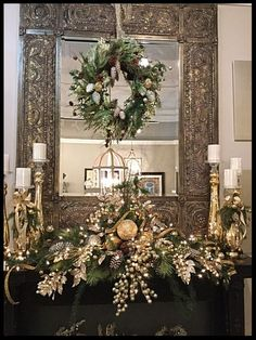 Christmas Mantle Decor Fireplaces – Welcome My World Christmas Fireplace, Christmas Mantels, Christmas Table Decorations, Christmas Home, Christmas Wreaths, Xmas, Christmas Villages, Fireplace Mantel, Christmas Christmas