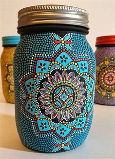 40 Easy Glass Painting Designs And Patterns For Beginners - . 40 Easy Glass Painting Designs And Patterns For Beginners – Painting Glass Jars, Glass Painting Designs, Dot Art Painting, Bottle Painting, Glass Art, Glass Painting Patterns, Painted Patterns, Easy Paint Designs, Pattern Painting